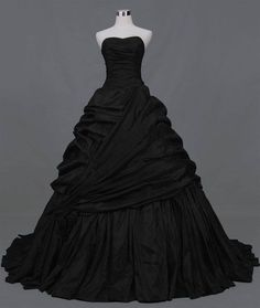 Devilnight added  Black Ball Gown Gothic Wedding Dress