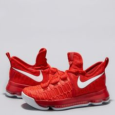 super popular 8ec88 b7255 Nike KD 9 Basketball Shoe - University Red White - Youth  Nike KD 9