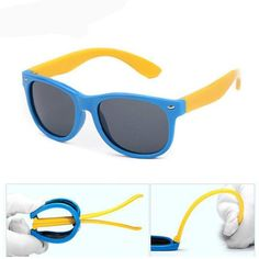 21692cb58f66 Silicone Safety Polarized Cat's Eye Children's Sunglasses Baby Safety,  Toddler Outfits, Kids Outfits,