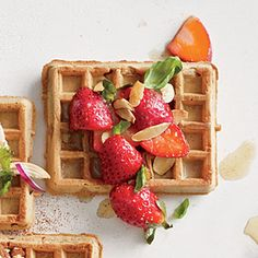 Berry and Browned Butter Waffle | CookingLight.com #myplate #wholegrain #fruit #protein