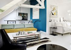 gravity-gravity: Paris home via Sarah Lavoine - Creative Houses Duplex Paris, Paris Apartments, Paris Home, Living Room Designs, Living Spaces, Decorating Your Home, Interior Decorating, French Interior Design, Apartment Design