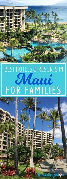 Traveling to Maui, Hawaii with kids? The top family-friendly hotels and resorts on Ka'anapali Beach to help you plan your next tropical vacation. #maui #hawaii