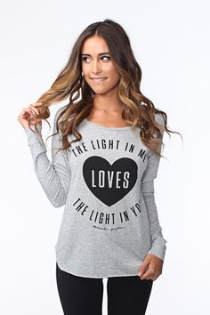 THE LIGHT IN ME LIGHTWEIGHT RAGLAN HEATHER GREY | Spiritual Gangster