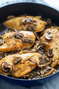 Giadzy Dairy-Free One Pan Chicken Marsala Chicken Breast Recipes Healthy, Healthy Chicken, Chicken Recipes, Healthy Recipes, Giada Recipes, Chicken Ideas, Healthy Food, Healthy Eating, Entree Recipes
