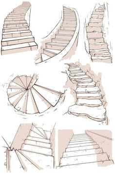 kibbitzer is creating A massive collection of reference sheets Drawing Tips perspective drawing Drawing Reference Poses, Drawing Poses, Drawing Tips, Drawing Drawing, House Drawing, Design Reference, House Sketch, Staircase Drawing, Spiral Staircase