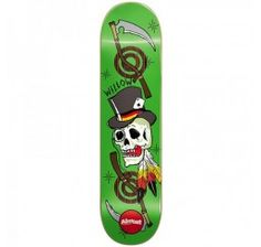 Almost Willow Dirty Skulls Green 8.1