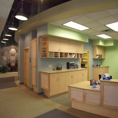 Now that's an office. Corson Dentistry - Dental Office Design by JoeArchitect in Denver Colorado Spa style dental office Commercial Office Design, Dental Office Design, Chiropractic Office Design, Kids Dentist, Cabinet Space, Good Job, Dentistry, Dental Care, Office Ideas