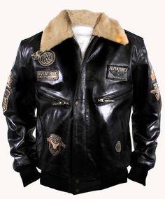f2f95780687 Aviatrix Mens Boys US Air Force Pilot G-1 Black Leather Bomber Jackets  Military Aviator  Amazon.co.uk  Clothing