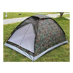 Portable Camping Tent for 2 Person Single Layer Waterproof Outdoor Camouflage Tent >>> You can find out more details at the link of the image.