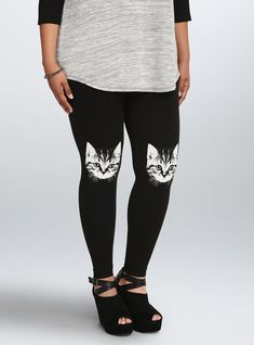 These incredible cat head leggings: | 29 Impossibly Stylish Cat Gifts, In Order Of Awesomeness