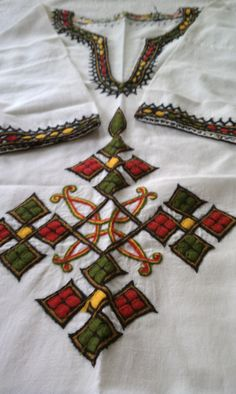Mens Ethiopian Shirt with Coptic Cross by RastaCultureShop on Etsy, $57.99