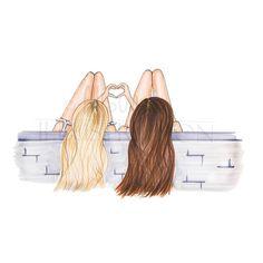 Imagen de friends, girly_m, and best friends | Dessins | Bff drawings, Friends et Drawings of ...