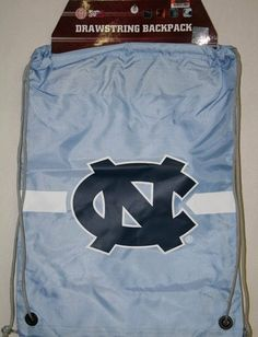 North Carolina Tarheels NCAA Logo Drawstring Backpack by Forever Collectibles. Save 1 Off!. $9.95. This drawstring Back Sack - Backpack from Forever Collectibles is large enough to be practical, but light enough to carry comfortably. Features durable, water resistant nylon fabric, high-strength drawstring cinch closure cords which can be worn over one shoulder or over both like a traditional backpack and screen-printed team logo in team colors. Drawstring opening provides easy access to c...