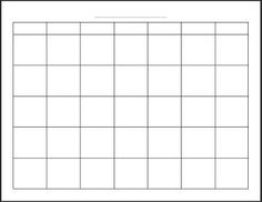 Free Printable Blank Monthly Calendar, also other printables