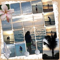 scrapebook layouts for dance | Bia on the Beach Collage - Digital Scrapbook Place Gallery