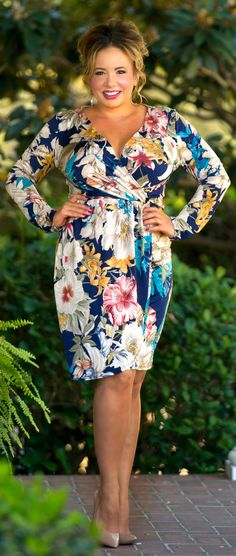 Fire In Your Eyes Dress - Blue - Perfectly Priscilla Boutique