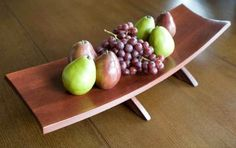 Recycled Oak Wine Barrel Staves large plate, centerpiece, Cherry Chocolate color