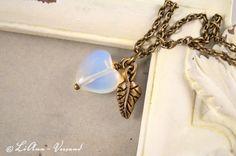 Ketten kurz - ♥ Herzblatt ♥ Kette - ein Designerstück von LiAnn-Versand bei DaWanda