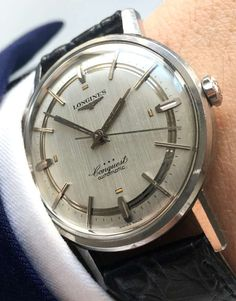 Perfect Longines Conquest Heritage Vintage with Linen Sektor dial