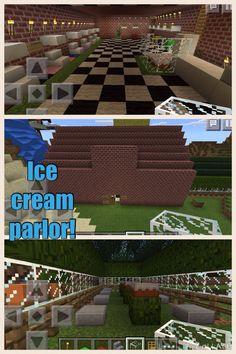 An ice cream parlor inside too!