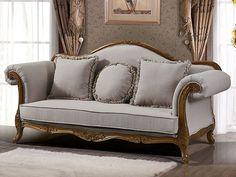 Jeanice 3S sofa i beige tekstil