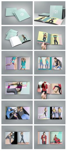 KORAL ACTIVEWEAR - Spring/Summer 2014 - Lookbook Design by Christelle Coolen, via Behance