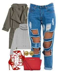 """Untitled #1289"" by power-beauty ❤ liked on Polyvore featuring H&M, Helmut Lang, Stuart Weitzman, MICHAEL Michael Kors and Chanel"