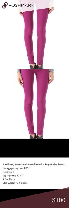 Paige Verdugo Ultra Skinny Jeans Worn less than three times, very comfortable, flattering fit, and true to size. purple/fuschia color, exact name of color is unknown. see third photo for more details. open to reasonable offers. Paige Jeans Jeans Skinny