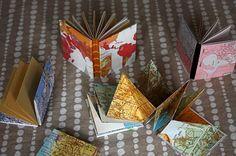 Handbound Vintage Map Books