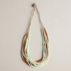 Mint Green and Multicolor Twist Necklace