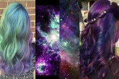 cabello colores fantasia galaxia - Buscar con Google