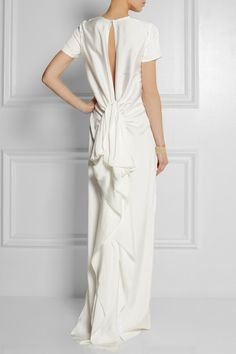 the perfect dress for the modern, minimalist bride #lanvin #weddingdress #citywedding
