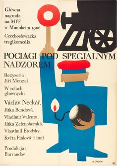 Closely Watched Trains (Jiří Menzel, 1966) Polish design by Maciej Zbikowski