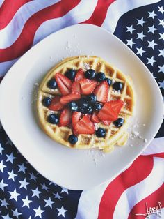4th of July Waffles | Inspiration Nook