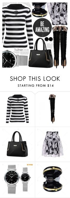 """""""Style report: Black & White"""" by pastelneon ❤ liked on Polyvore featuring Oris"""