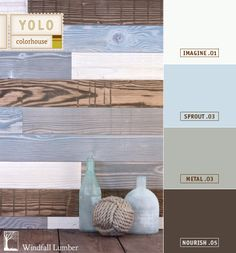 Color Cladding Textured, Reclaimed Douglas Fir from Windfall Lumber and YOLO Colorhouse