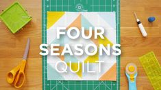 Quilt Snips Mini Tutorial - Four Seasons Quilt - YouTube