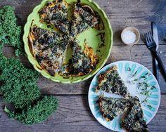 Vanløse blues.....: Grønkålstærte med sød kartoffel bund