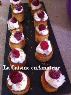 La cuisine en amateur de Maryline: Ingrédients : mini bouchée, 250ml de crème liquide...