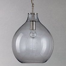 Buy Croft Collection Selsey Glass Ceiling Pendant Light, Blue from our Ceiling Lighting range at John Lewis. Glass Pendant Light, Bubble Glass, Bubble Lamps, Glass Ceiling, Ceiling Lights, Glass Ceiling Pendant, Ceiling, Pendant Light, Glass Ceiling Lights