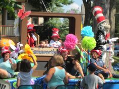 The annual Three Rivers Parade. This float is a nod to Philo Farnsworth who was the father of TV and from Fort Wayne.