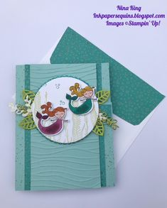 Check out the fun fold on this amazing birthday card by Nina King, Stampin' Up!, Magical Day Bundle