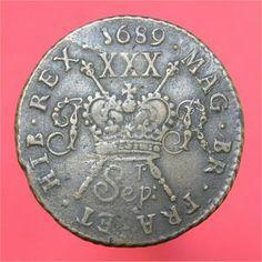 1689 (Sepr) gunmoney halfcrown - James II