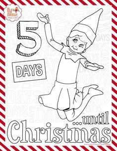 elf-on-the-shelf-Coloring- ... | seasonal | Pinterest | Elves ...