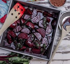 Chocolate Balsamic Roasted Beets Top