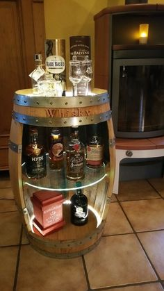 Whisky Fassbar - Beleuchtet mit Fernbedienung ( Ohne Inhalt ) Whiskey - Holzfass in Möbel & Wohnen, Kochen & Genießen, Bar & Wein-Accessoires | eBay!