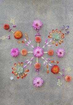 flower mandala. ephemeral art.