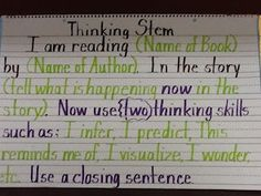 For the Love of Teaching: Thinking Stems/Anchor Charts--An excellent site for simple, direct anchor charts for responding in Reader's Workshop.
