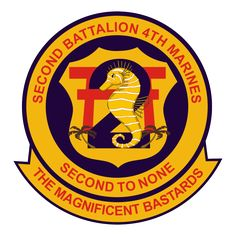 2nd Battalion, 4th Marines (2/4) is an infantry battalion of the United States Marine Corps. The battalion, nicknamed the Magnificent Bastards, is based out of Marine Corps Base Camp Pendleton, California and are a part of the 5th Marine Regiment and 1st Marine Division.