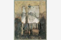 Lucio Muñoz - Tabla 19-97 1997 Técnica mixta sobre tabla 81x65 cm.PinIt : Anónimo de Piedra